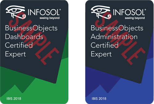 IBIS 2018 BO Expert Certification Dashboard and Administration Sample