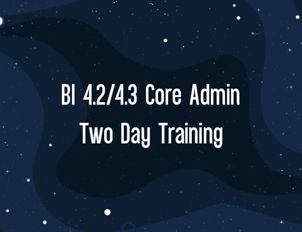 BO 4.2 4.2 Core Admin Boot Camp