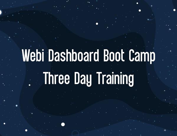 Webi Dashboard Boot Camp Product Image